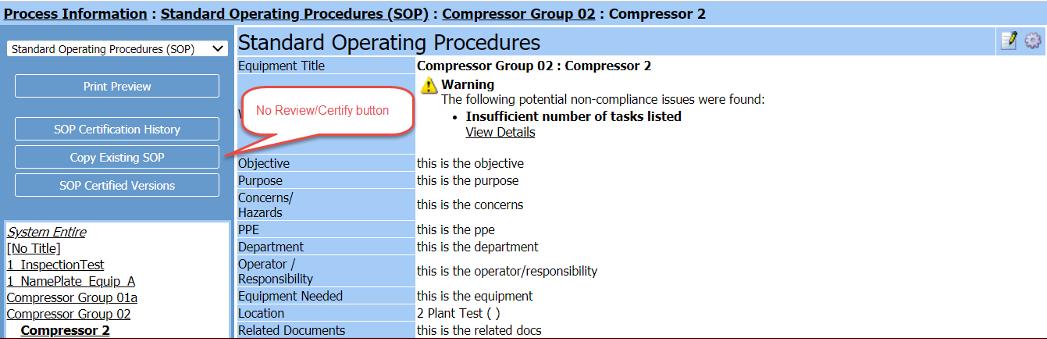 More Options in the Standard Operating Procedures (SOP Admin) Tool